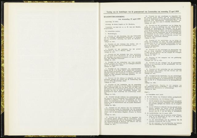 Raadsverslagen van de gemeente Leeuwarden, 1865-2007 (Notulen) 1959-04-22