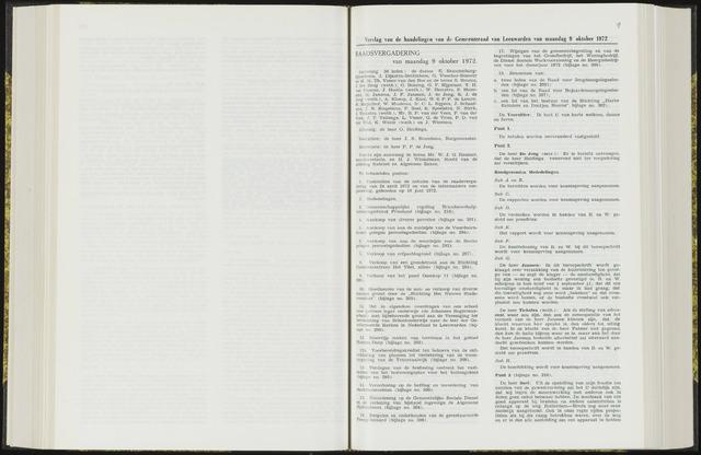 Raadsverslagen van de gemeente Leeuwarden, 1865-2007 (Notulen) 1972-09-09