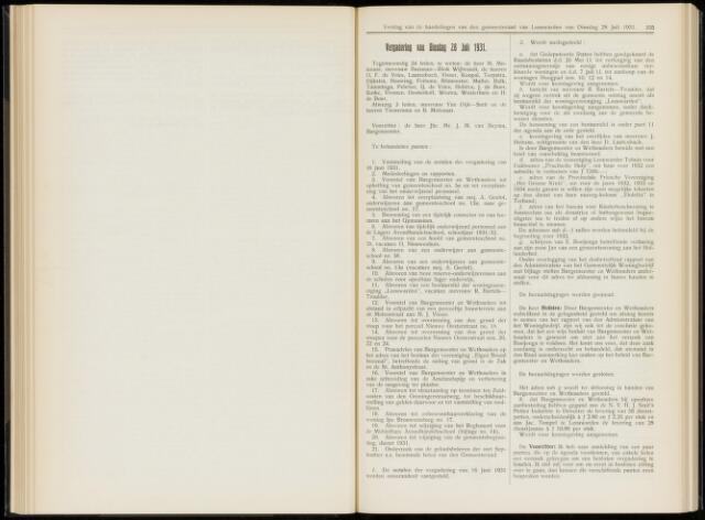 Raadsverslagen van de gemeente Leeuwarden, 1865-2007 (Notulen) 1931-07-28