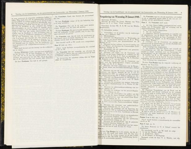 Raadsverslagen van de gemeente Leeuwarden, 1865-2007 (Notulen) 1948-01-28