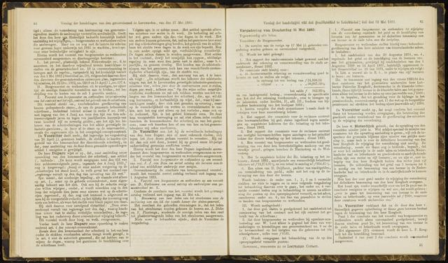 Raadsverslagen van de gemeente Leeuwarden, 1865-2007 (Notulen) 1883-05-31