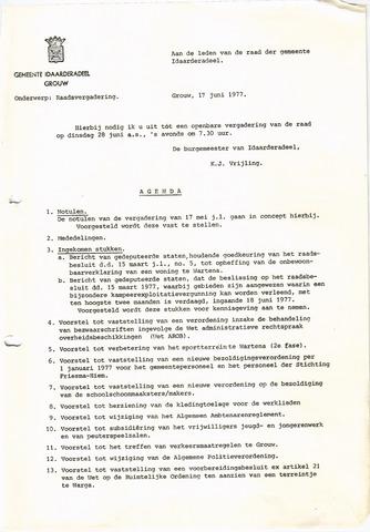 raadsverslagen Idaarderadeel 1935-1983 1977-06-28