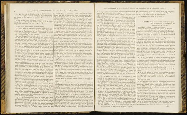 Raadsverslagen van de gemeente Leeuwarden, 1865-2007 (Notulen) 1870-05-12