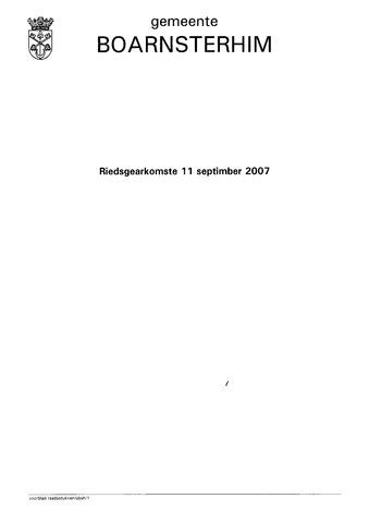 Boarnsterhim vergaderstukken gemeenteraad  2007-09-11