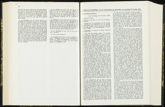 Raadsverslagen van de gemeente Leeuwarden, 1865-2007 (Notulen) 1963-12-18