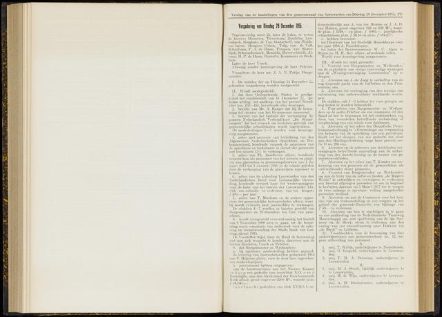 Raadsverslagen van de gemeente Leeuwarden, 1865-2007 (Notulen) 1915-12-28