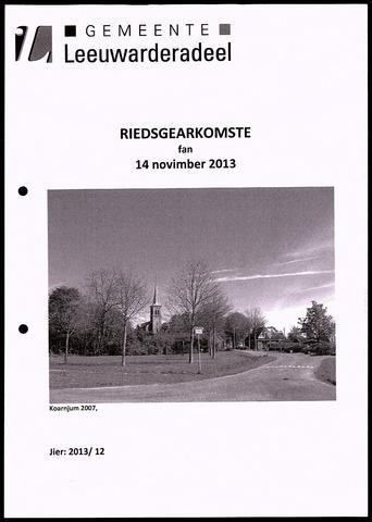 Notulen van de gemeenteraad van Leeuwarderadeel 2013-11-14