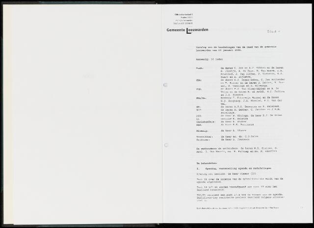 Raadsverslagen van de gemeente Leeuwarden, 1865-2007 (Notulen) 2006