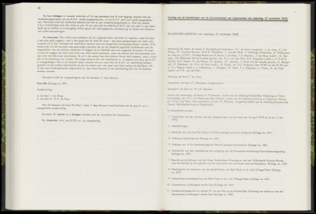 Raadsverslagen van de gemeente Leeuwarden, 1865-2007 (Notulen) 1978-11-27
