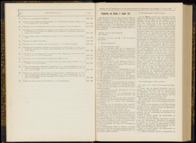 Raadsverslagen van de gemeente Leeuwarden, 1865-2007 (Notulen) 1921