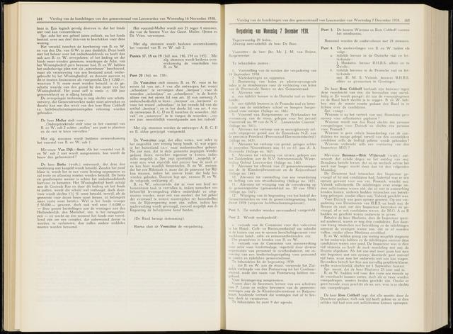 Raadsverslagen van de gemeente Leeuwarden, 1865-2007 (Notulen) 1938-12-07