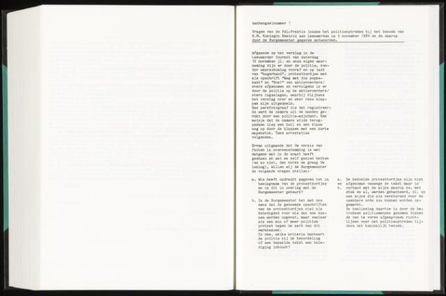 Raadsverslagen van de gemeente Leeuwarden, 1865-2007 (Schriftelijke vragen) 1985