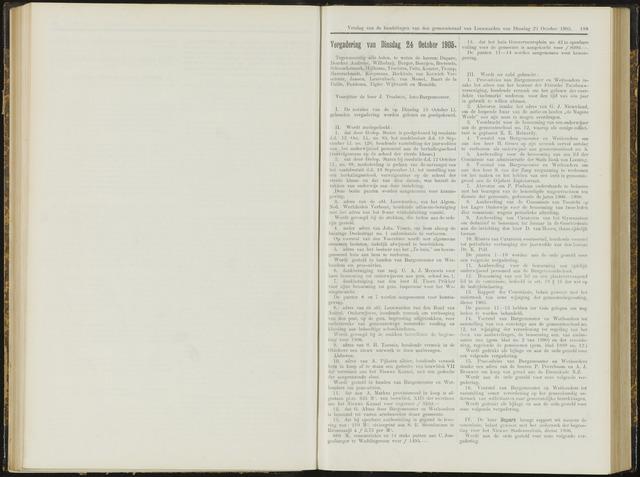Raadsverslagen van de gemeente Leeuwarden, 1865-2007 (Notulen) 1905-10-24
