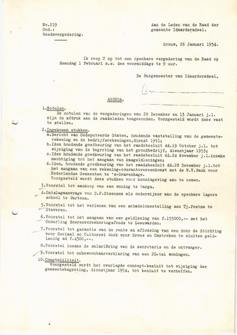 raadsverslagen Idaarderadeel 1935-1983 1954-02-01