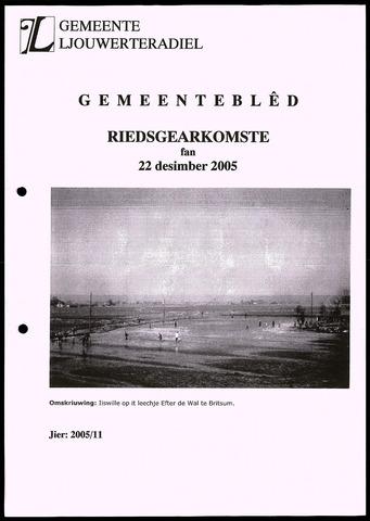 Notulen van de gemeenteraad van Leeuwarderadeel 2005-12-22