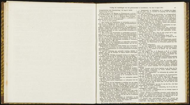 Raadsverslagen van de gemeente Leeuwarden, 1865-2007 (Notulen) 1879-04-10