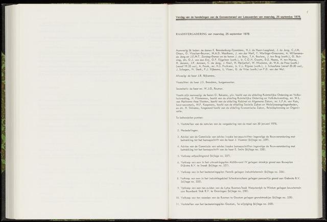 Raadsverslagen van de gemeente Leeuwarden, 1865-2007 (Notulen) 1978-09-25
