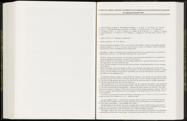 Raadsverslagen van de gemeente Leeuwarden, 1865-2007 (Notulen) 1979-10-29