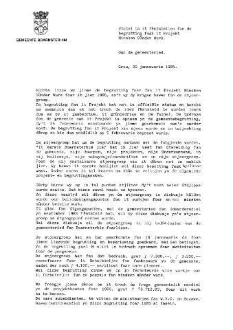 Boarnsterhim vergaderstukken gemeenteraad  1985-02-05