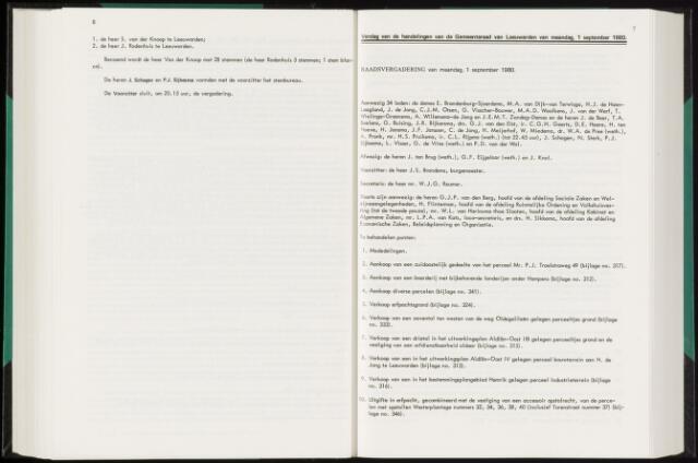 Raadsverslagen van de gemeente Leeuwarden, 1865-2007 (Notulen) 1980-09-01