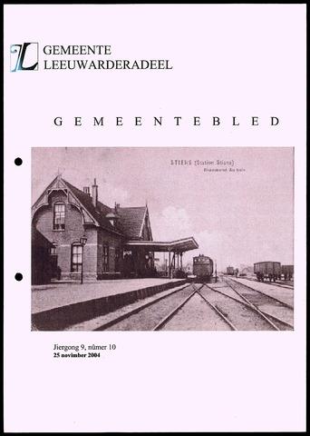 Notulen van de gemeenteraad van Leeuwarderadeel 2004-11-25