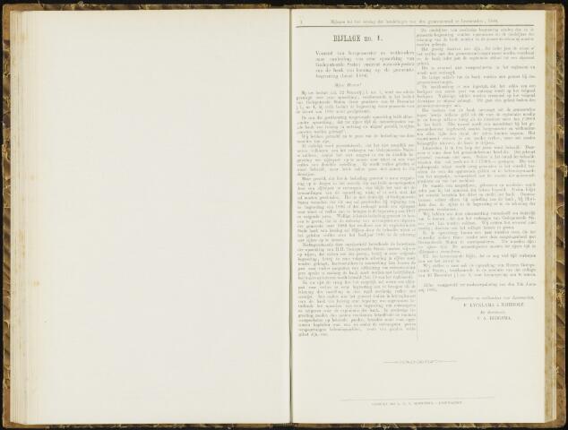 Raadsverslagen van de gemeente Leeuwarden, 1865-2007 (Bijlagen) 1886-01-01