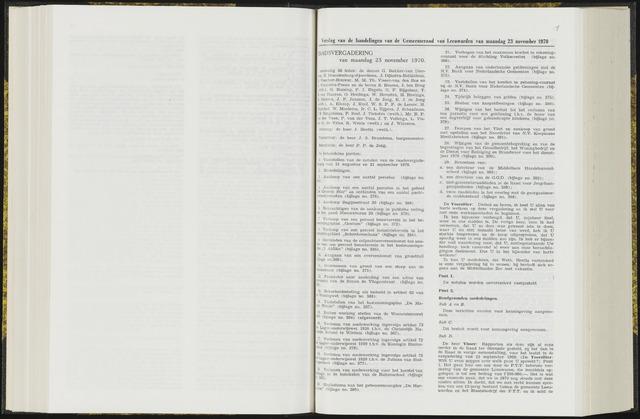 Raadsverslagen van de gemeente Leeuwarden, 1865-2007 (Notulen) 1970-11-12