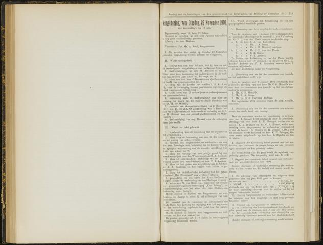 Raadsverslagen van de gemeente Leeuwarden, 1865-2007 (Notulen) 1901-11-26