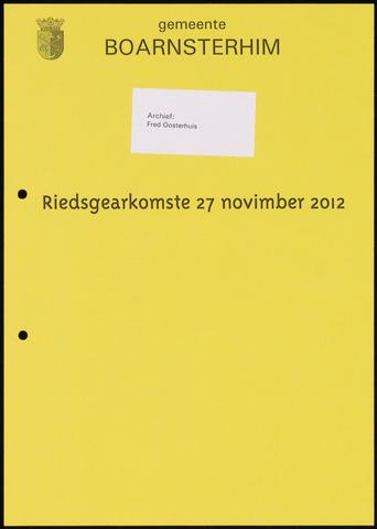 Boarnsterhim vergaderstukken gemeenteraad  2012-11-27