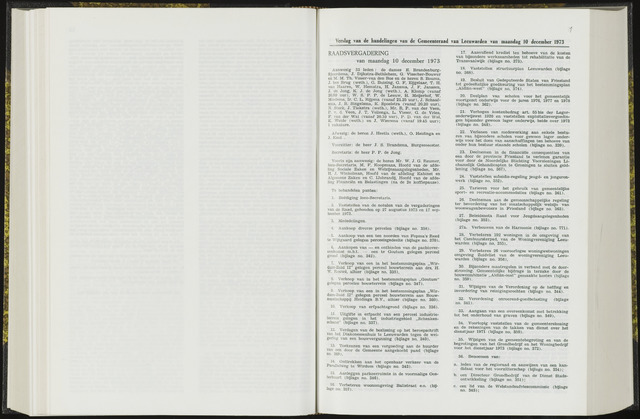 Raadsverslagen van de gemeente Leeuwarden, 1865-2007 (Notulen) 1973-12-10