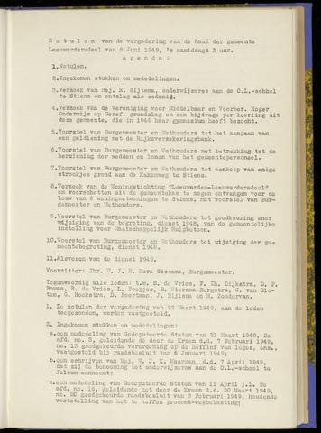 Notulen van de gemeenteraad van Leeuwarderadeel 1949-06-08