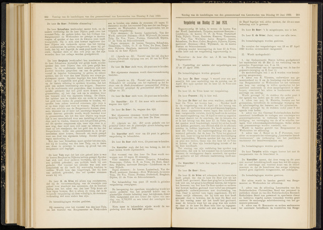 Raadsverslagen van de gemeente Leeuwarden, 1865-2007 (Notulen) 1920-06-22