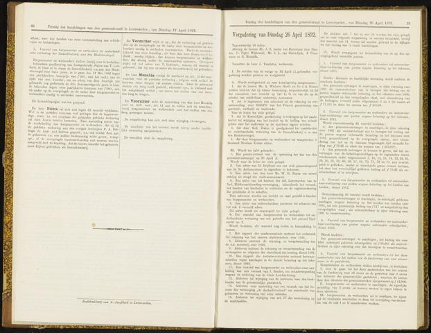 Raadsverslagen van de gemeente Leeuwarden, 1865-2007 (Notulen) 1892-04-26