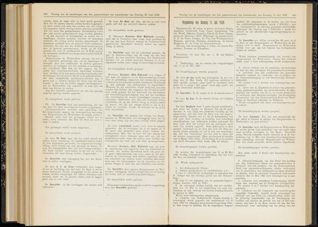 Raadsverslagen van de gemeente Leeuwarden, 1865-2007 (Notulen) 1920-07-13
