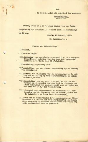 raadsverslagen Idaarderadeel 1935-1983 1935