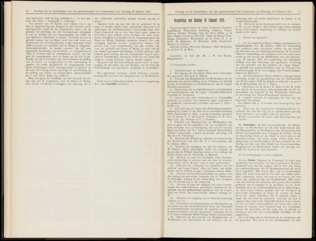 Raadsverslagen van de gemeente Leeuwarden, 1865-2007 (Notulen) 1931-02-10