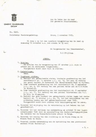 raadsverslagen Idaarderadeel 1935-1983 1965-11-10