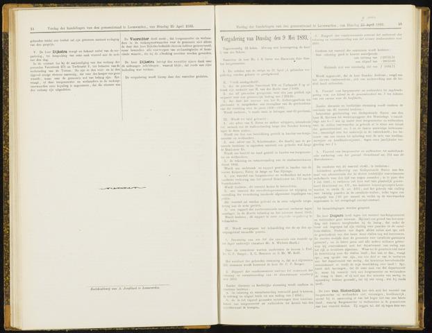 Raadsverslagen van de gemeente Leeuwarden, 1865-2007 (Notulen) 1893-05-09