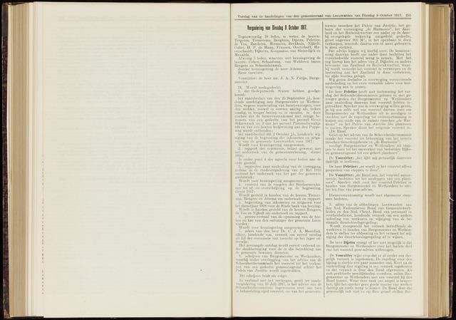 Raadsverslagen van de gemeente Leeuwarden, 1865-2007 (Notulen) 1917-10-09