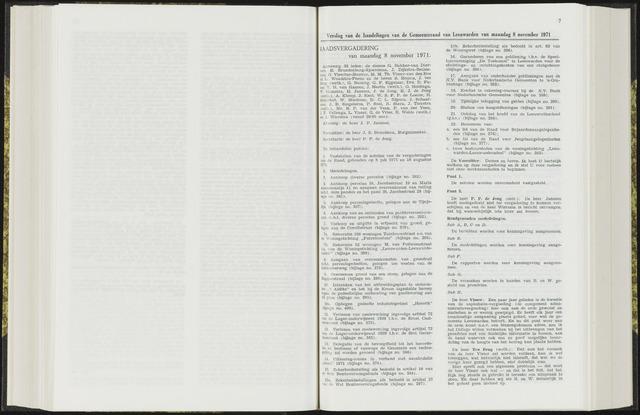 Raadsverslagen van de gemeente Leeuwarden, 1865-2007 (Notulen) 1971-11-08