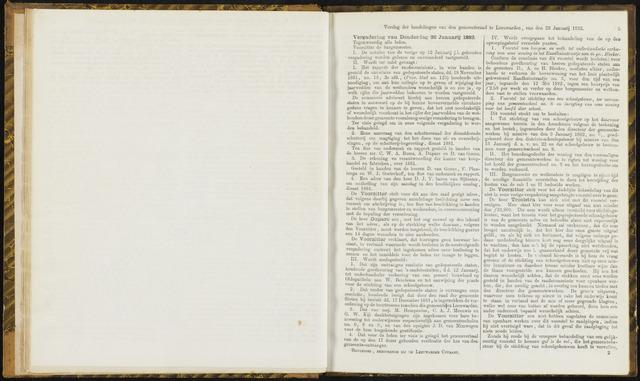 Raadsverslagen van de gemeente Leeuwarden, 1865-2007 (Notulen) 1882-01-26