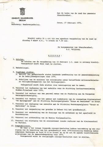 raadsverslagen Idaarderadeel 1935-1983 1976-03-09