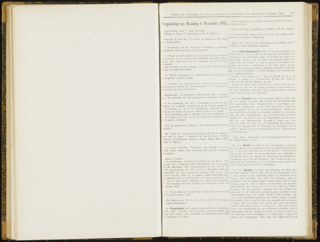 Raadsverslagen van de gemeente Leeuwarden, 1865-2007 (Notulen) 1893-11-06