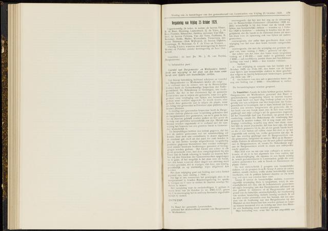 Raadsverslagen van de gemeente Leeuwarden, 1865-2007 (Notulen) 1929-10-25