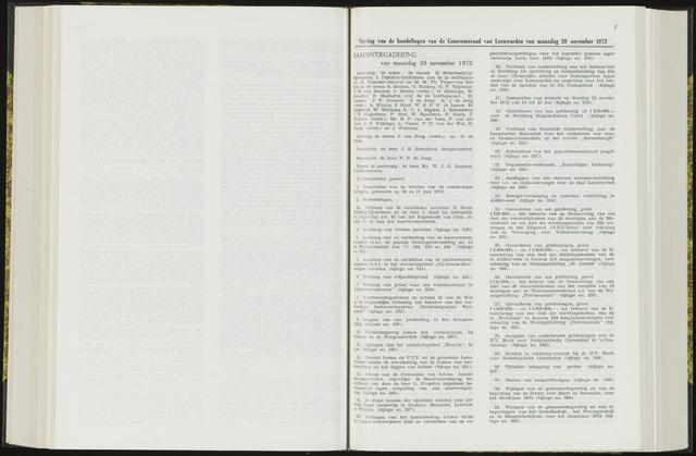Raadsverslagen van de gemeente Leeuwarden, 1865-2007 (Notulen) 1972-11-20
