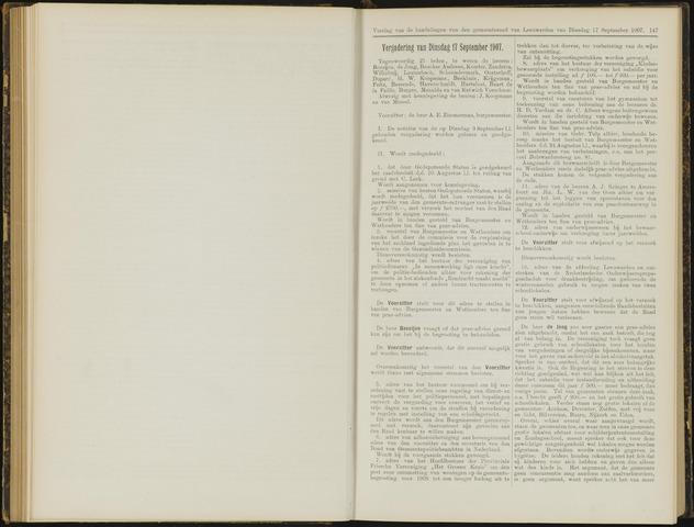 Raadsverslagen van de gemeente Leeuwarden, 1865-2007 (Notulen) 1907-09-17