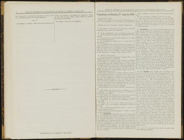 Raadsverslagen van de gemeente Leeuwarden, 1865-2007 (Notulen) 1889-08-27