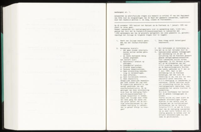 Raadsverslagen van de gemeente Leeuwarden, 1865-2007 (Schriftelijke vragen) 1984-01-01