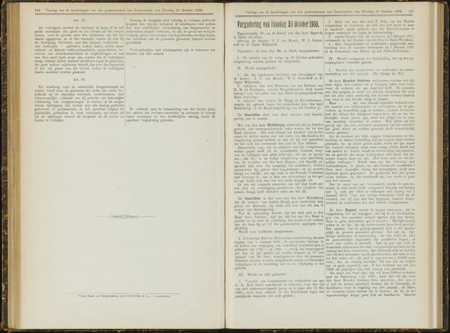 Raadsverslagen van de gemeente Leeuwarden, 1865-2007 (Notulen) 1900-10-30
