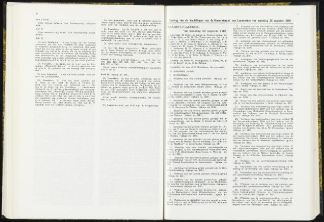 Raadsverslagen van de gemeente Leeuwarden, 1865-2007 (Notulen) 1968-08-26